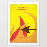 No175 My Games Hunger minimal movie poster 3 Art Print