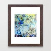 The Small World Experiment Framed Art Print
