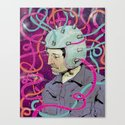 Man in Helmet Canvas Print