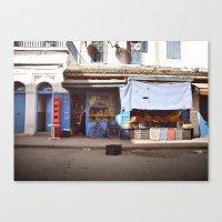 Oranges & Bicyclette Canvas Print