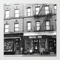 'Music Inn' New York Canvas Print