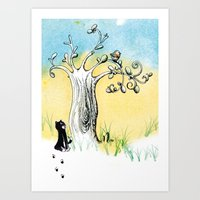 Petit Chat Art Print