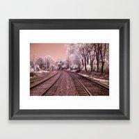 Train Track In Culpeper Framed Art Print