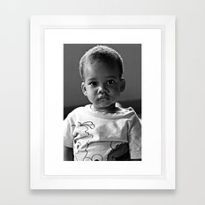 Wide Eyes Framed Art Print