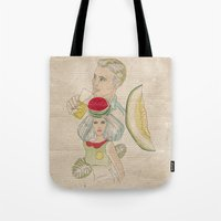 melon, watermelon and lemon Tote Bag
