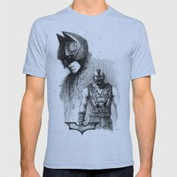 Bat In Black (The Dark Knight Rises) Mens Fitted Tee Athletic Blue SMALL