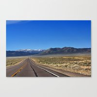 The Loneliest Road Canvas Print
