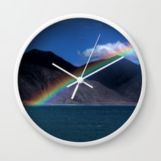 The Rainbow at Pangong! Wall Clock