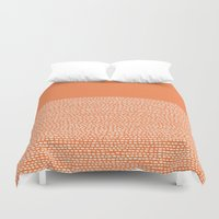 Riverside - Celosia Orange Duvet Cover