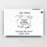 Typo Demons iPad Case
