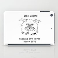 Typo Demons iPad Case