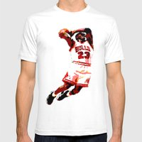 MJ Mens Fitted Tee White SMALL