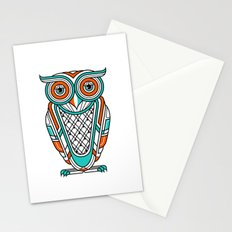 Art Deco Owl Stationery Cards