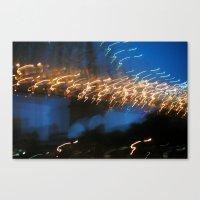 In My Dream, I Saw A Lighted Bridge Canvas Print