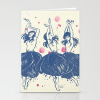 Dancing Poppies Stationery Cards