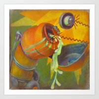 DickBot Attacked By Bitc… Art Print