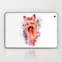 Drippy Jazzy Yorkshire Terrier Colorful Dog Art by Jai Johnson Laptop & iPad Skin