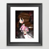 The Akai Ito That Snappe… Framed Art Print