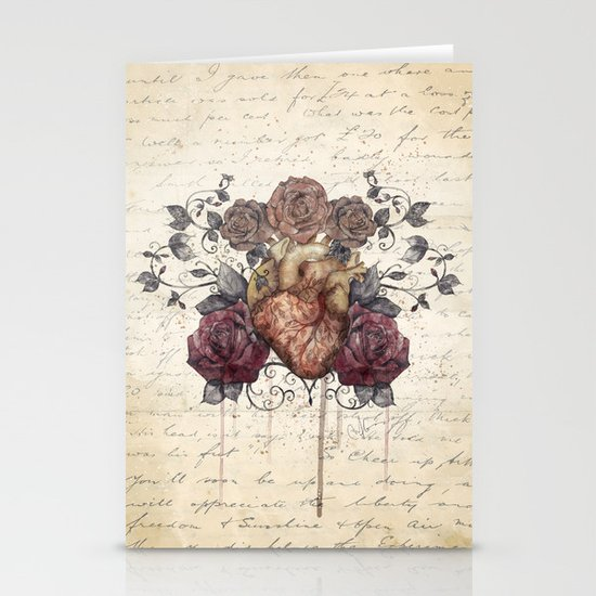 Flowers from my heart Stationery Card