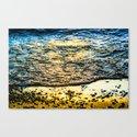 Pebble Sunset Canvas Print