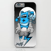 iPhone & iPod Case featuring StormBot - Blue Robot by Mishfit