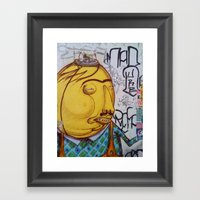 Yellow Man Framed Art Print