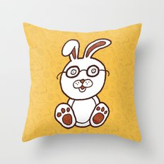 Wannabe Urban Rabbit Throw Pillow