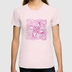 PINK MANDALA Womens Fitted Tee Light Pink SMALL