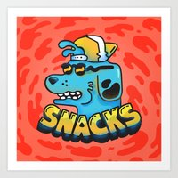 Snacks Dawg Art Print