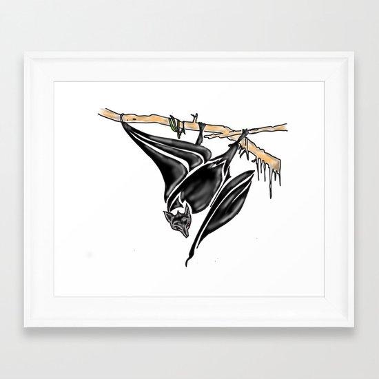 It's a Bat Man............... Framed Art Print