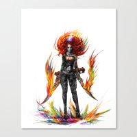 Color Attack Canvas Print