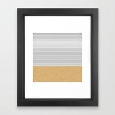 Minimal Gold Glitter Str… Framed Art Print