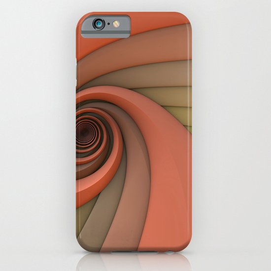 Spiral in Earth Tones iPhone & iPod Case