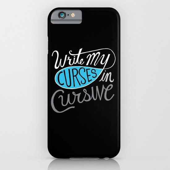 Curses in Cursive iPhone & iPod Case