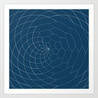 Honey Twist Blue Print Art Print