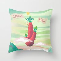 Carrot King Throw Pillow