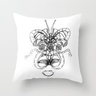 Butterfly With A Man Ins… Throw Pillow