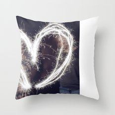 Sparkler Love Throw Pillow