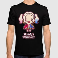 Daddy's Lil Monster Black Mens Fitted Tee SMALL
