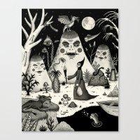 Outcry Of The Island Canvas Print