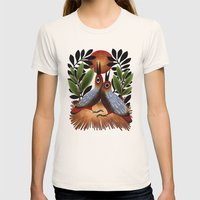 Baby Birds Womens Fitted Tee Natural SMALL