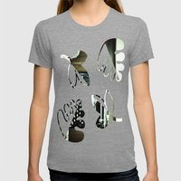 You don't write anymore... Womens Fitted Tee Tri-Grey SMALL