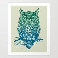 Warrior Owl Art Print