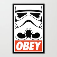OBEY Storm Trooper  Canvas Print