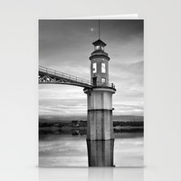 Lighthouse And Moon Stationery Cards