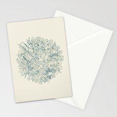 Denim flower circle Stationery Cards