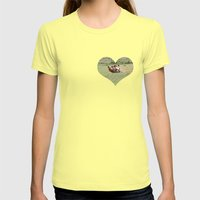 Rolling Horse Womens Fitted Tee Lemon SMALL