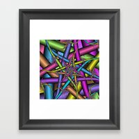 Star Fractal Framed Art Print