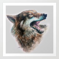 Wolf Smile Art Print