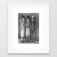 Subterranean/Widowmakers (Black & White version) Framed Art Print
